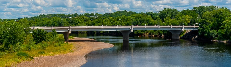 The Water Street Bridge over the Chippewa River, Eau Claire, WI